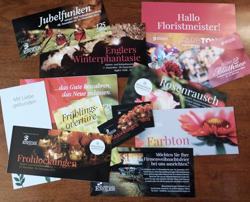 Flyer Ausstellung im Blumenland Engler