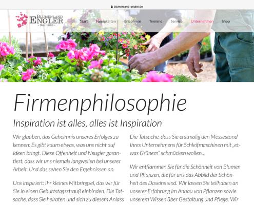 Firmenphilosophie Blumenland Engler