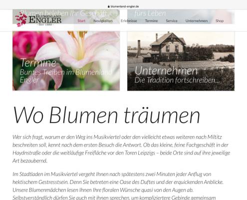 Website Blumenland Engler