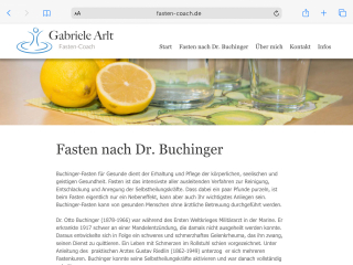 Website Fasten-Coach Gabriele Arlt