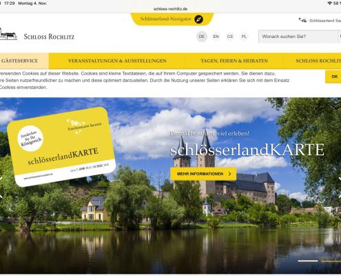 Schloss Rochlitz im Websiteverbund des Schlösserland Sachsen