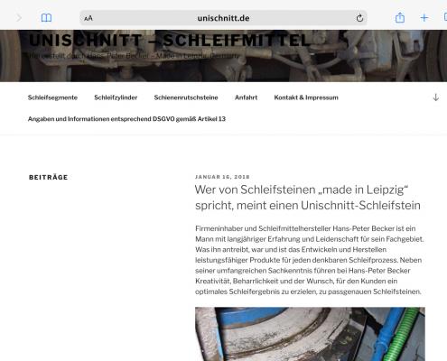 Unischnitt Website