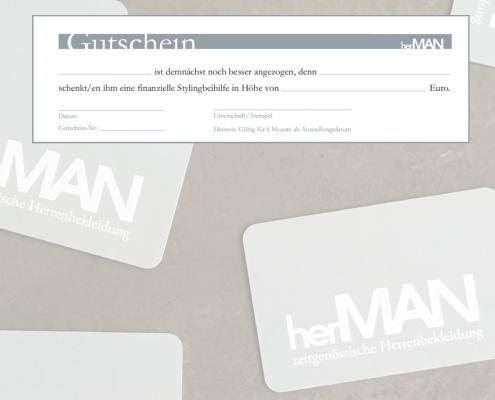 Visitenkarten und Gutscheine von herMAN