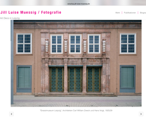 Webseite Jill Luise Muessig