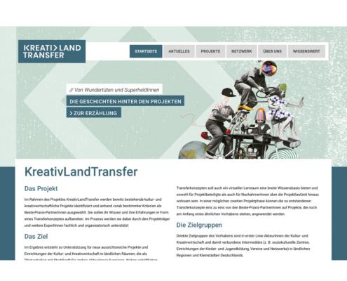 KreativLandTransfer: Das Projekt