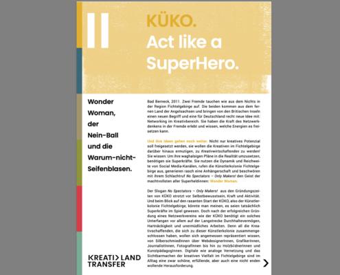 KreativLandTransfer: KÜKO. Act like a SuperHero