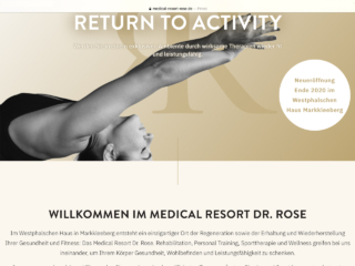 Website des Medical Resort Dr. Rose