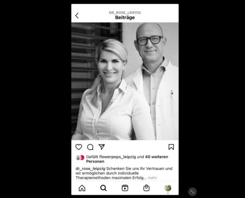 MIO Sportklinik, Instagram-Beitrag