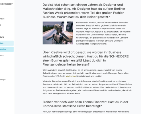 Mutmacherstory für die unternehmenswelt, Interview mit Andreas Trommler, Designer